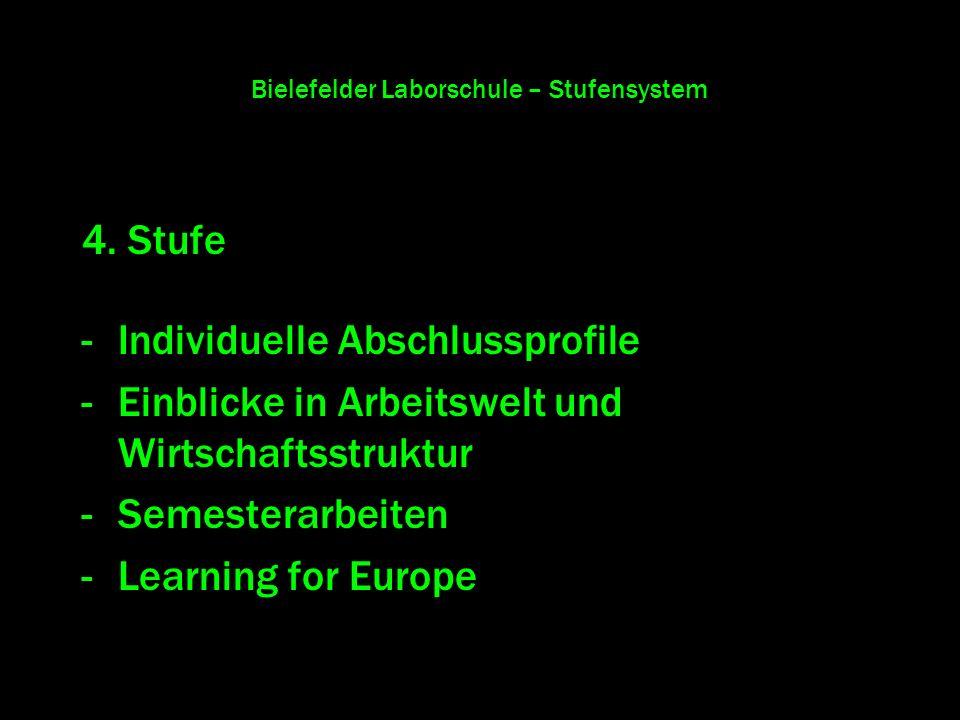 Bielefelder Laborschule – Stufensystem