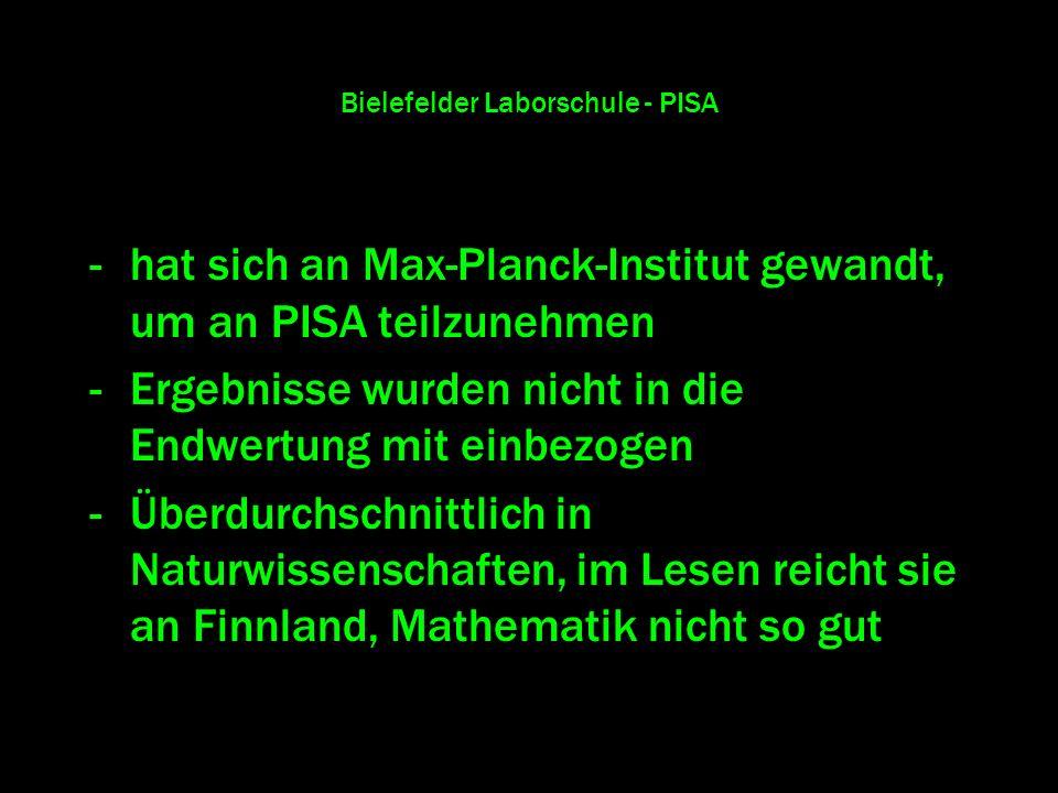 Bielefelder Laborschule - PISA
