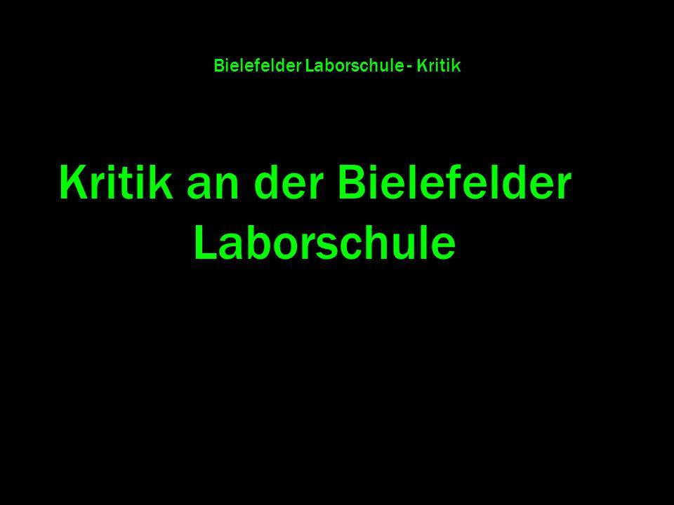 Bielefelder Laborschule - Kritik