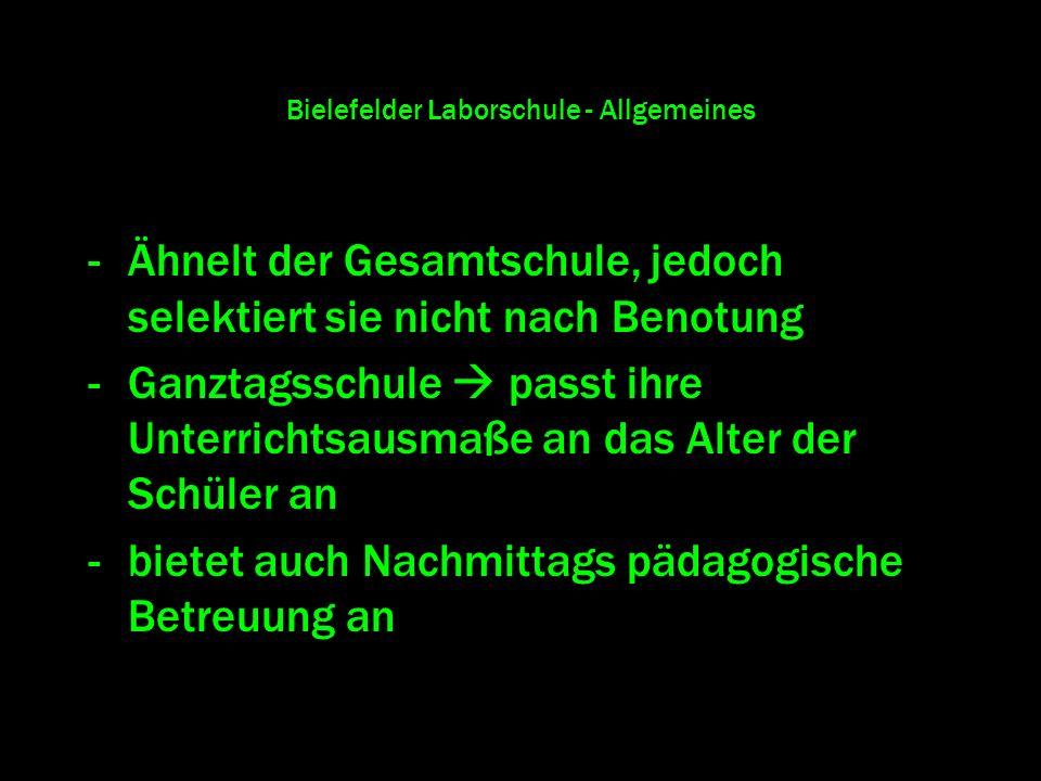 Bielefelder Laborschule - Allgemeines