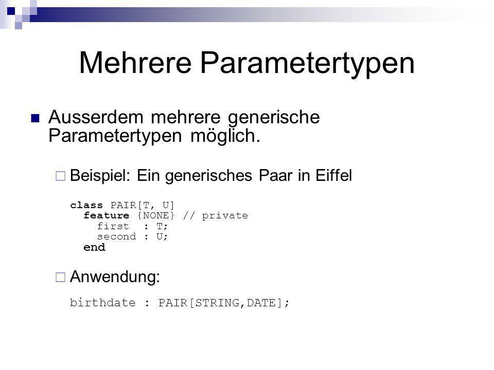 Mehrere Parametertypen