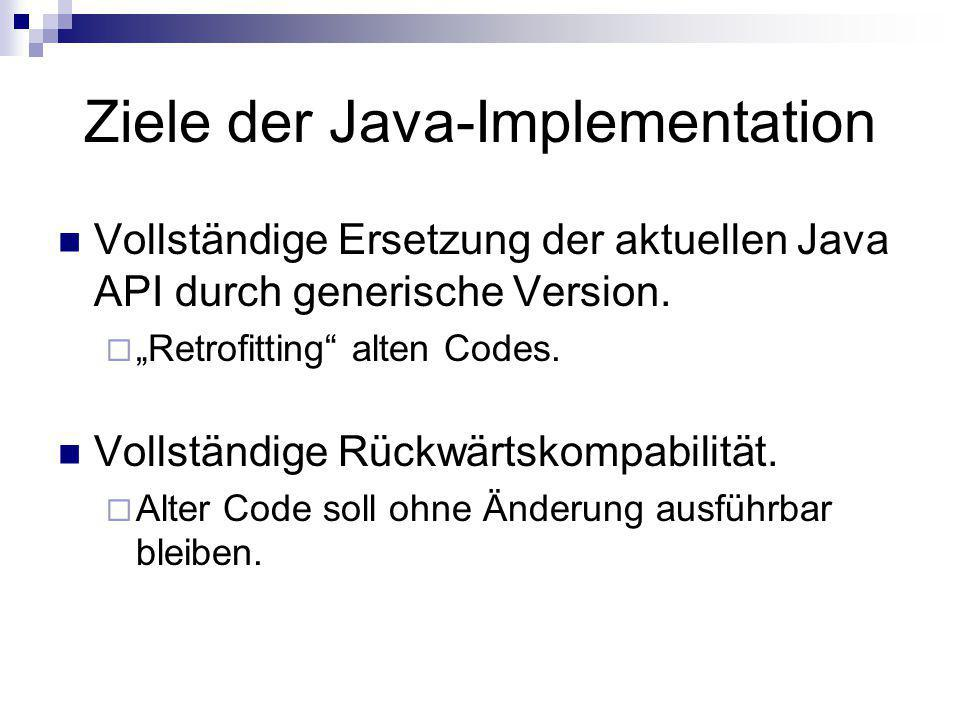 Ziele der Java-Implementation