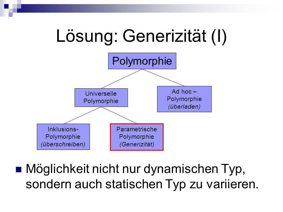 Lösung: Generizität (I)
