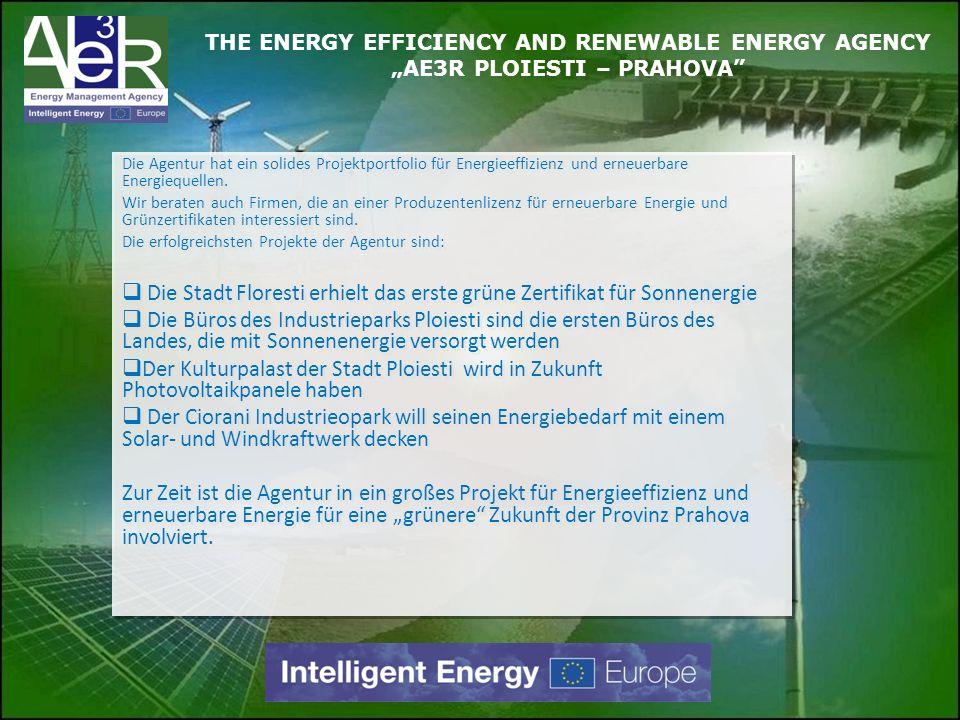 Die Stadt Floresti erhielt das erste grüne Zertifikat für Sonnenergie