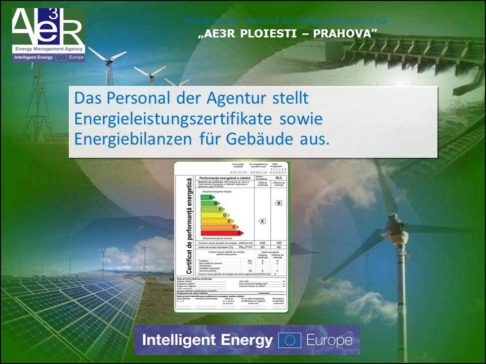 """Rumänischer Verband für Gebäudehaustechnik- """"AE3R PLOIESTI – PRAHOVA"""