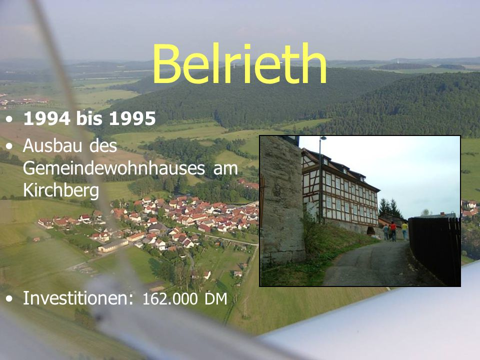 Belrieth 1994 bis 1995 Ausbau des Gemeindewohnhauses am Kirchberg