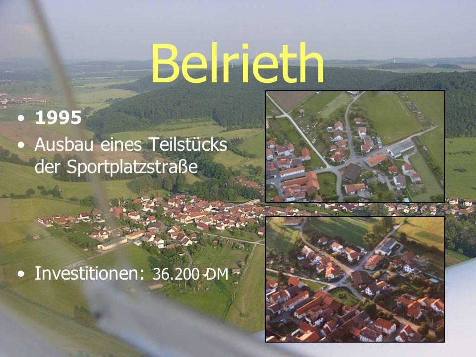 Belrieth 1995 Ausbau eines Teilstücks der Sportplatzstraße
