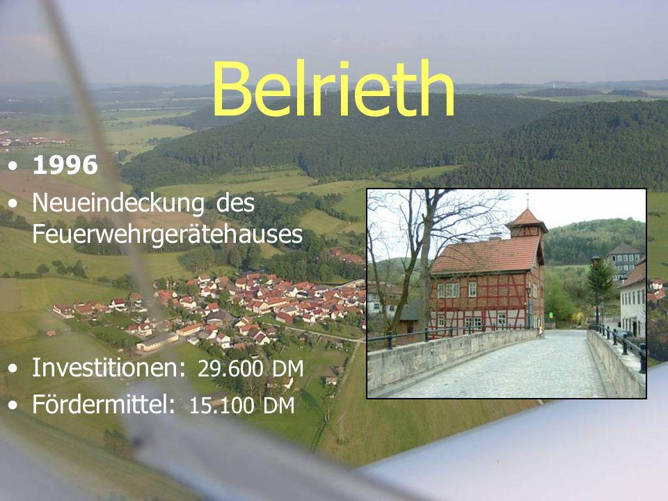 Belrieth 1996 Neueindeckung des Feuerwehrgerätehauses