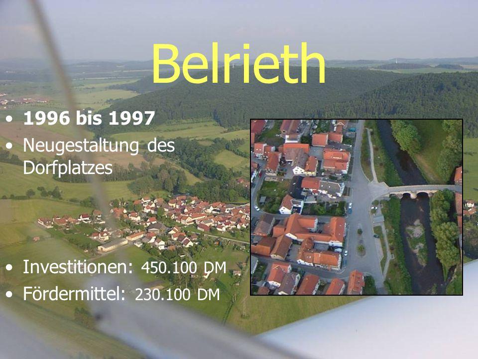 Belrieth 1996 bis 1997 Neugestaltung des Dorfplatzes