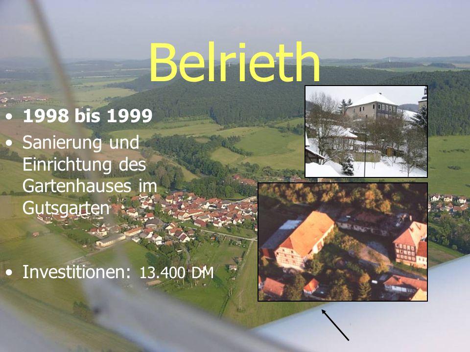 Belrieth 1998 bis 1999. Sanierung und Einrichtung des Gartenhauses im Gutsgarten.