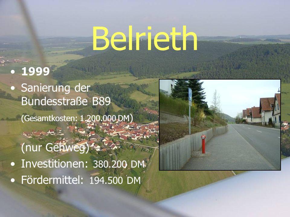 Belrieth 1999 Sanierung der Bundesstraße B89