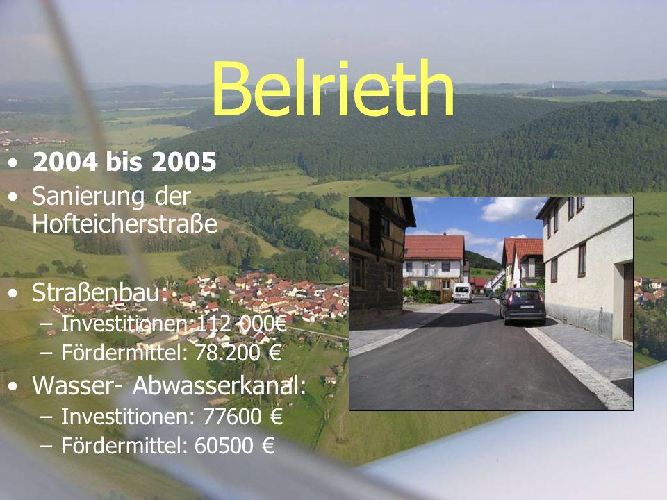 Belrieth 2004 bis 2005 Sanierung der Hofteicherstraße Straßenbau: