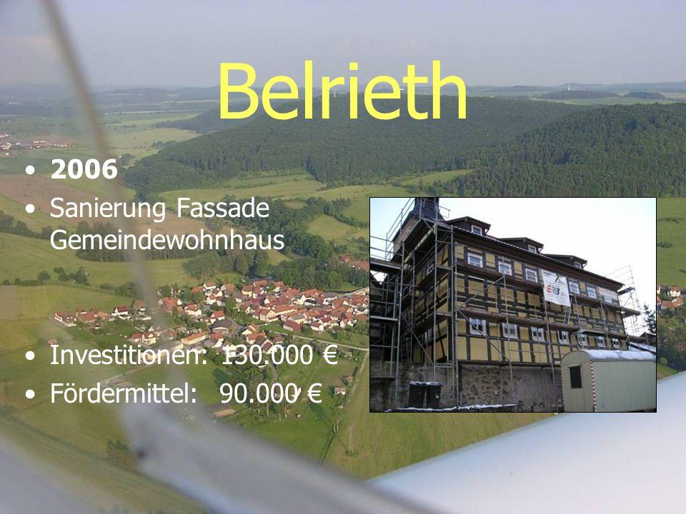 Belrieth 2006 Sanierung Fassade Gemeindewohnhaus