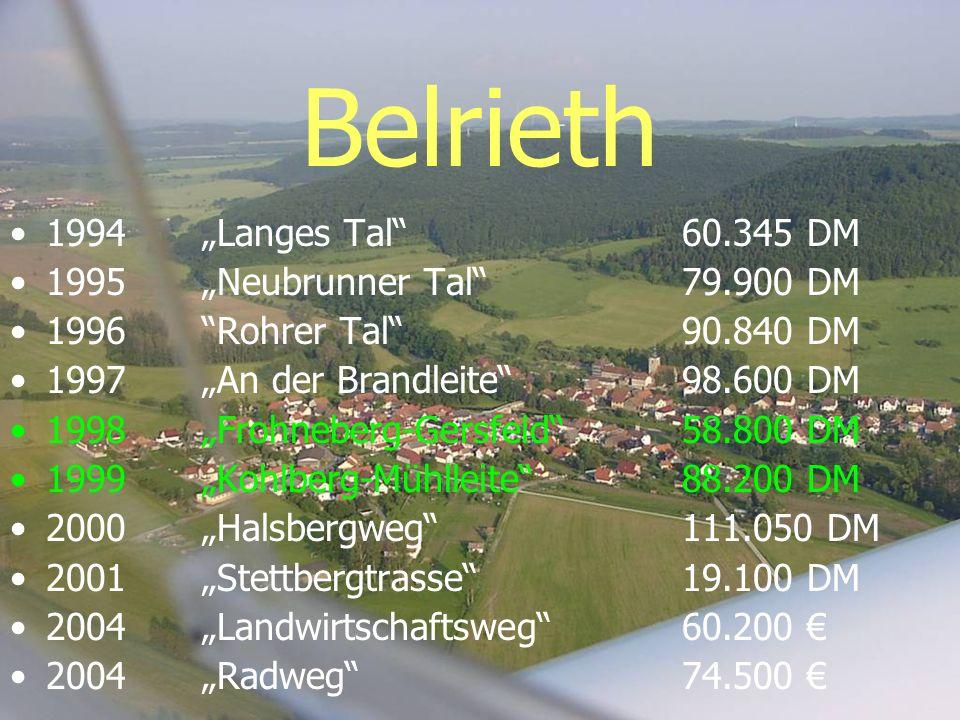 """Belrieth 1994 """"Langes Tal 60.345 DM 1995 """"Neubrunner Tal 79.900 DM"""