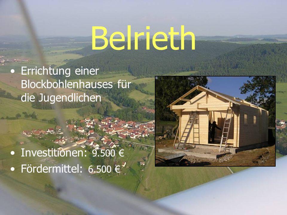 Belrieth Errichtung einer Blockbohlenhauses für die Jugendlichen