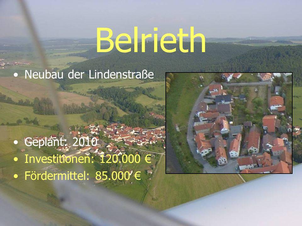 Belrieth Neubau der Lindenstraße Geplant: 2010