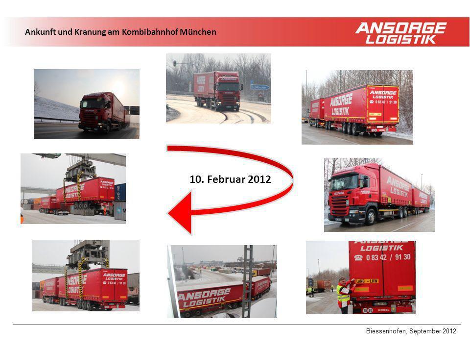 10. Februar 2012 Ankunft und Kranung am Kombibahnhof München