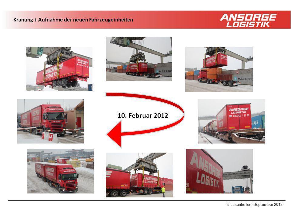 10. Februar 2012 Kranung + Aufnahme der neuen Fahrzeugeinheiten