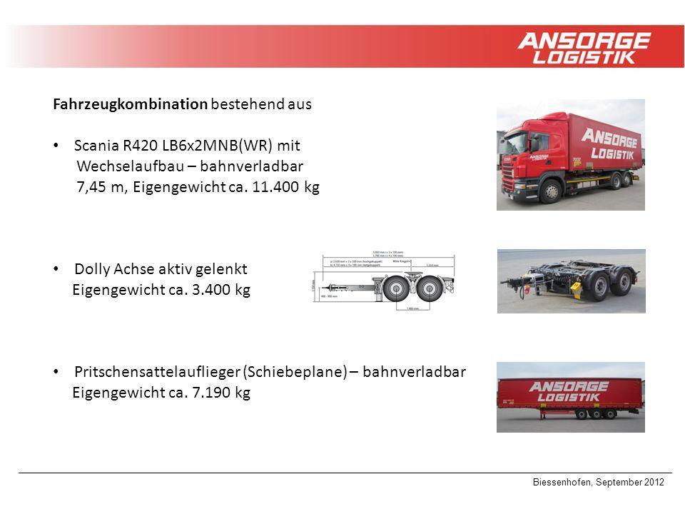Fahrzeugkombination bestehend aus Scania R420 LB6x2MNB(WR) mit