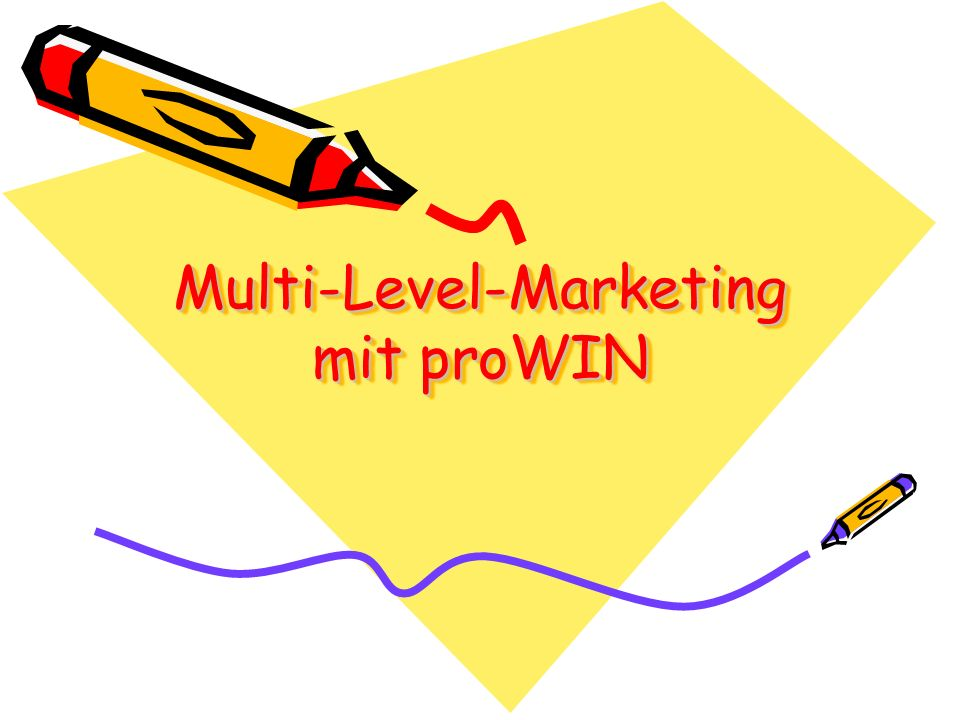 Multi-Level-Marketing mit proWIN