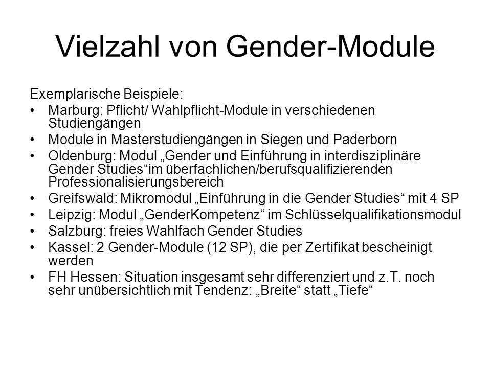 Vielzahl von Gender-Module