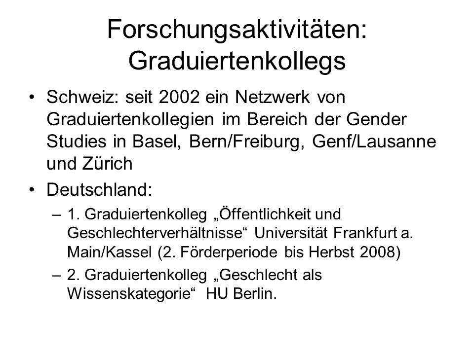 Forschungsaktivitäten: Graduiertenkollegs