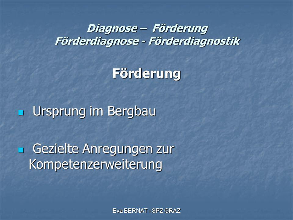 Diagnose – Förderung Förderdiagnose - Förderdiagnostik