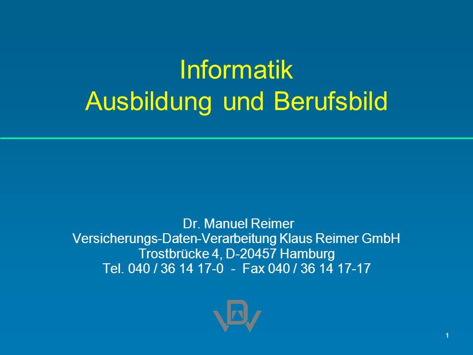 Informatik Ausbildung und Berufsbild