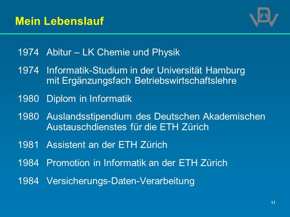 Mein Lebenslauf 1974 Abitur – LK Chemie und Physik