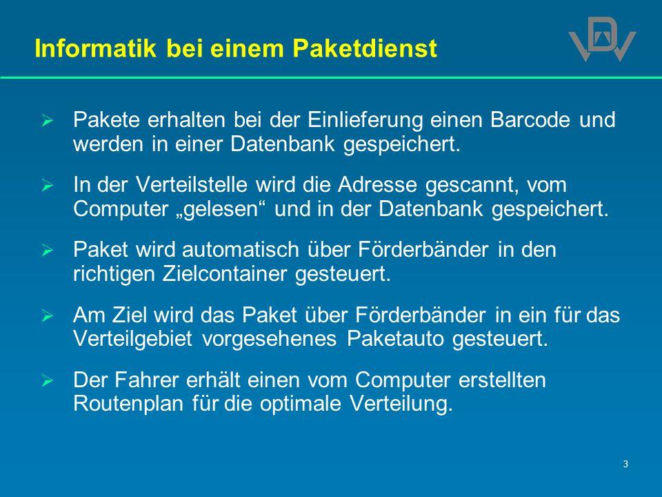Informatik bei einem Paketdienst