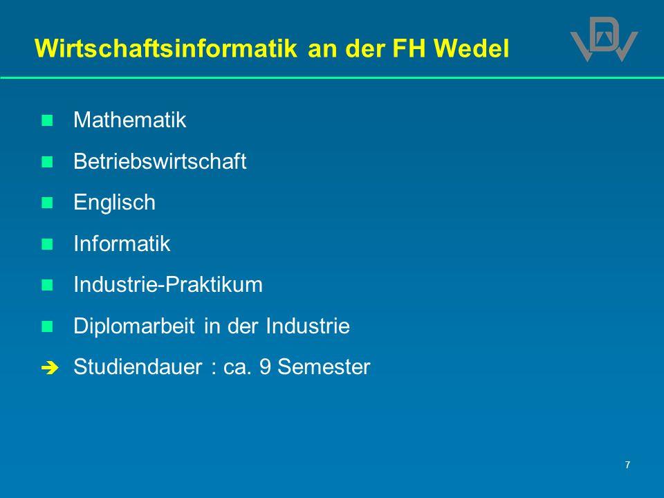 Wirtschaftsinformatik an der FH Wedel