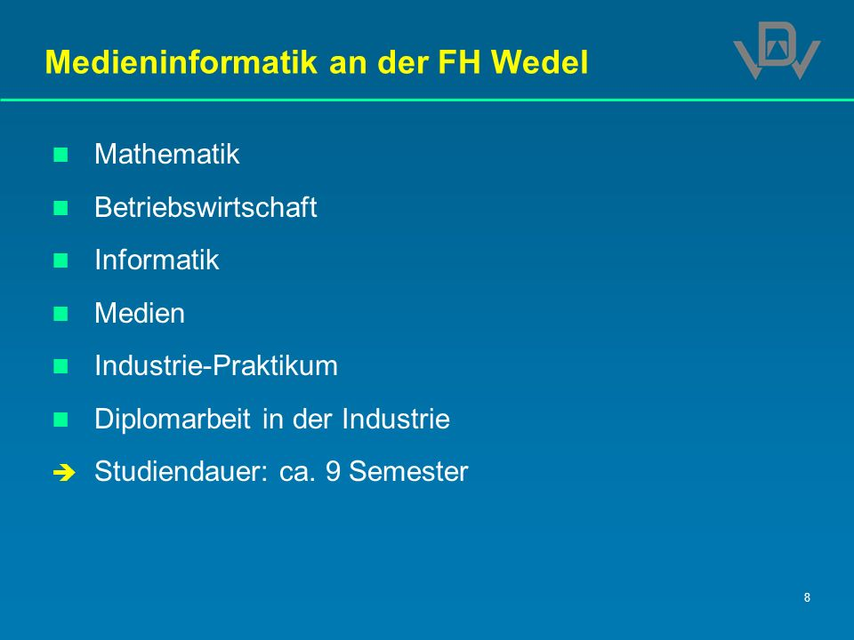 Medieninformatik an der FH Wedel