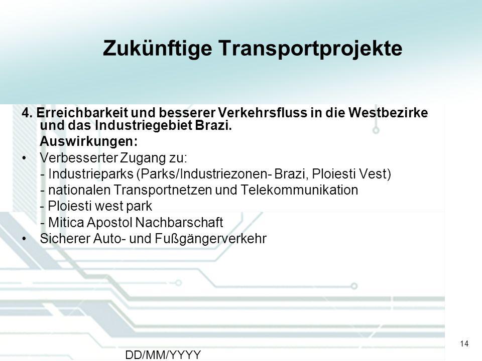Zukünftige Transportprojekte
