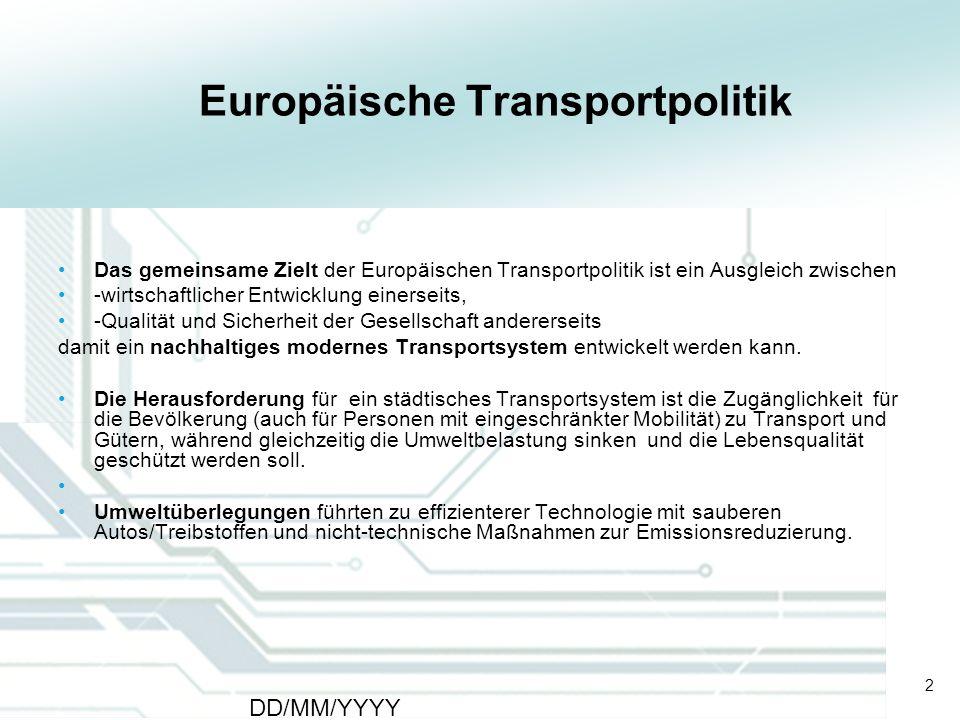 Europäische Transportpolitik