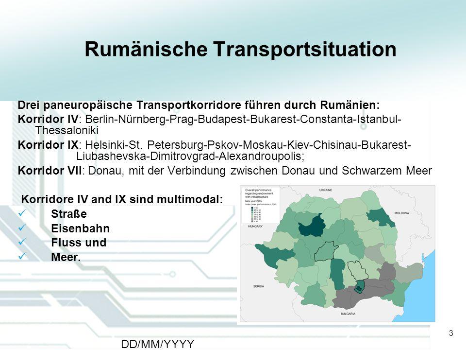 Rumänische Transportsituation