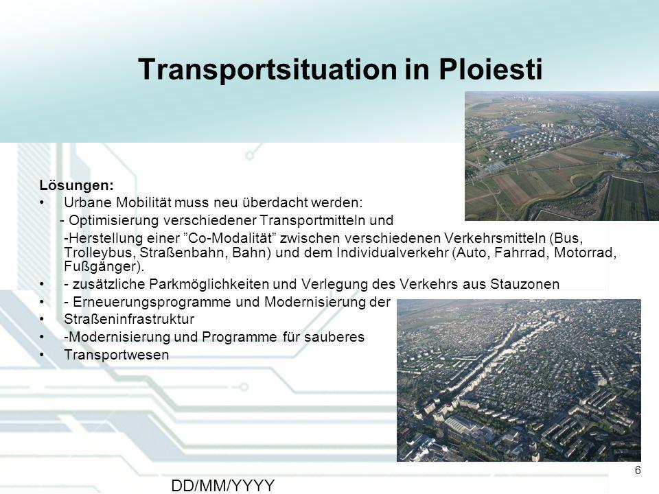 Transportsituation in Ploiesti