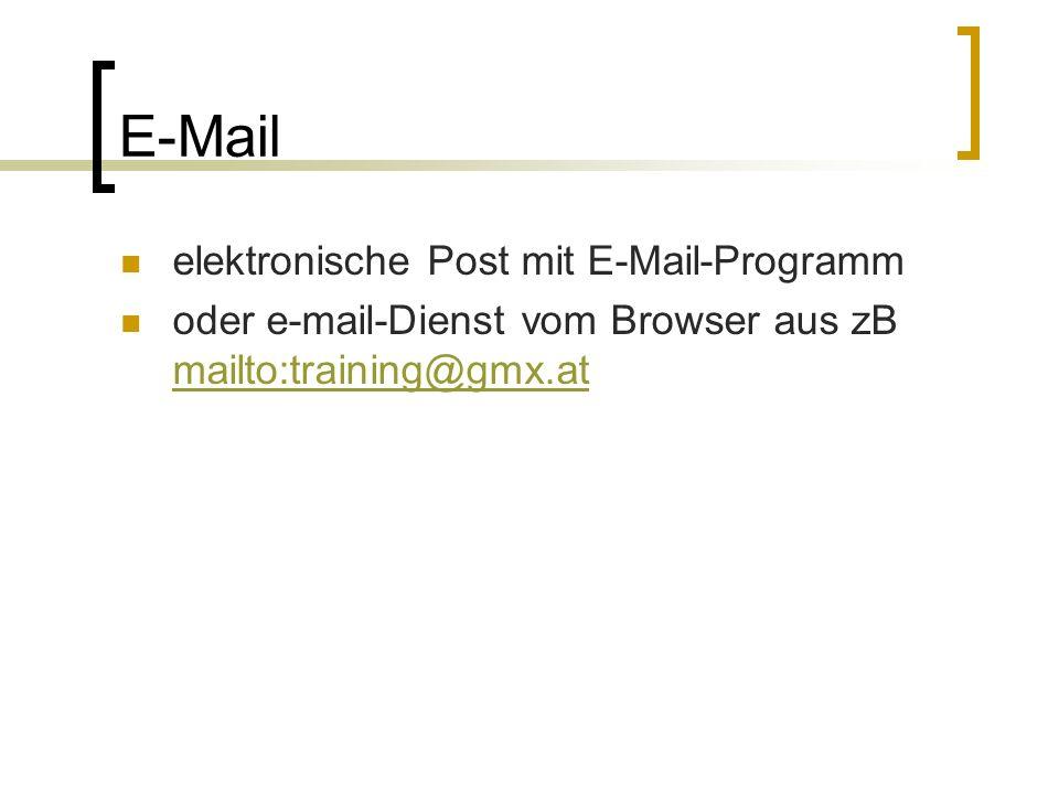E-Mail elektronische Post mit E-Mail-Programm