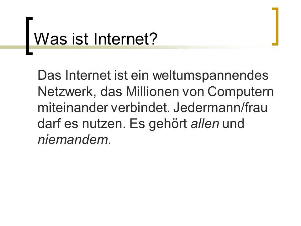 Was ist Internet