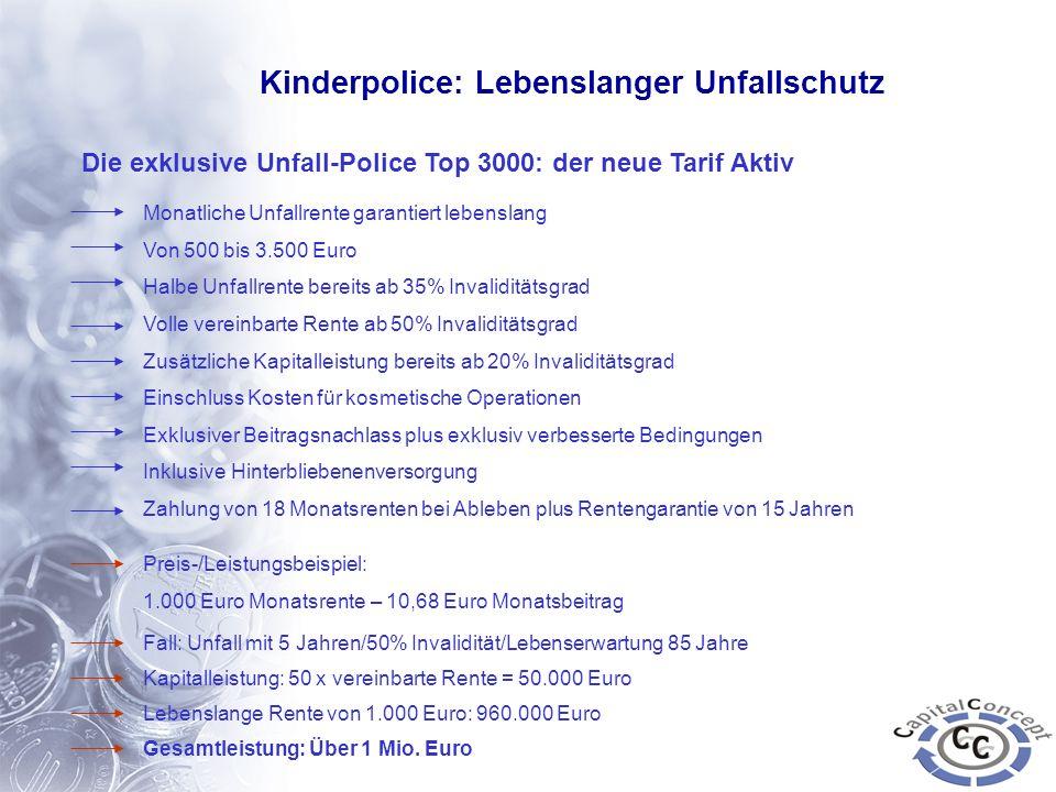 Kinderpolice: Lebenslanger Unfallschutz