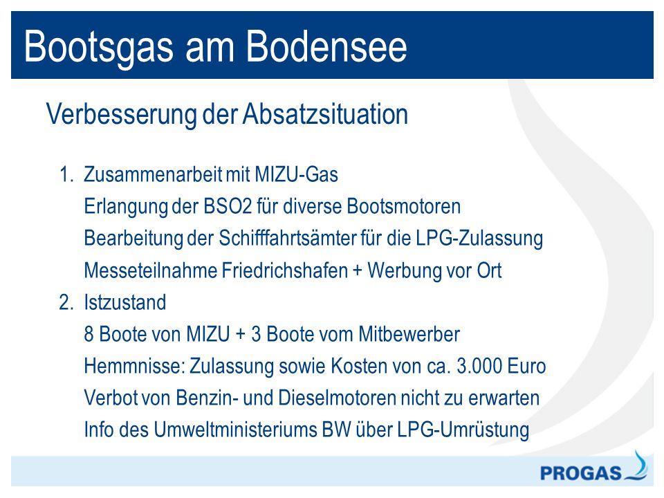 Bootsgas am Bodensee Verbesserung der Absatzsituation
