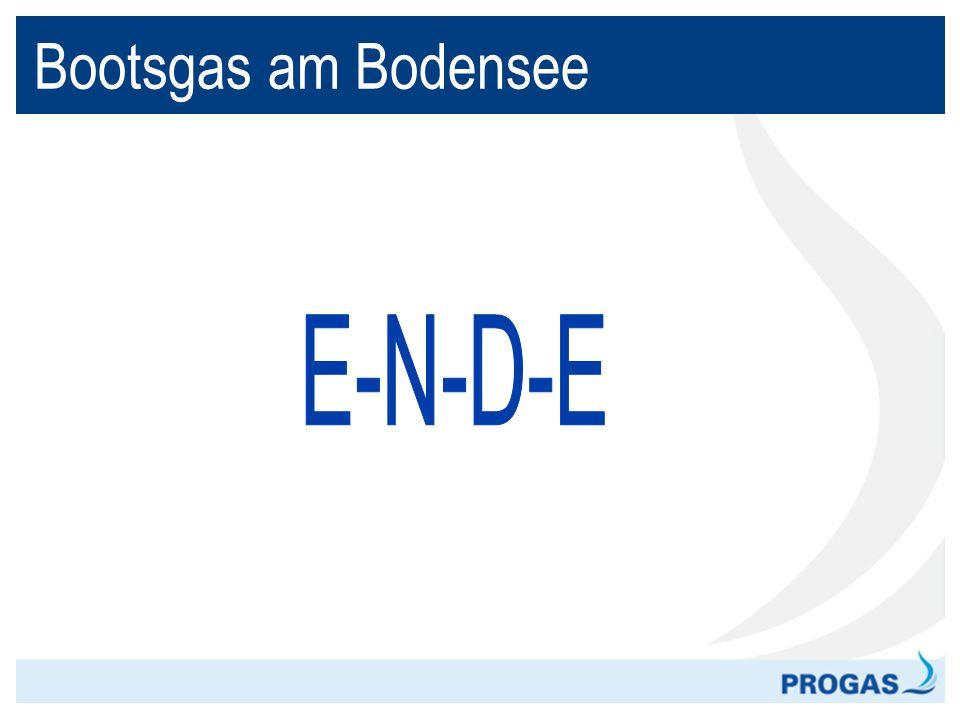 Bootsgas am Bodensee E-N-D-E