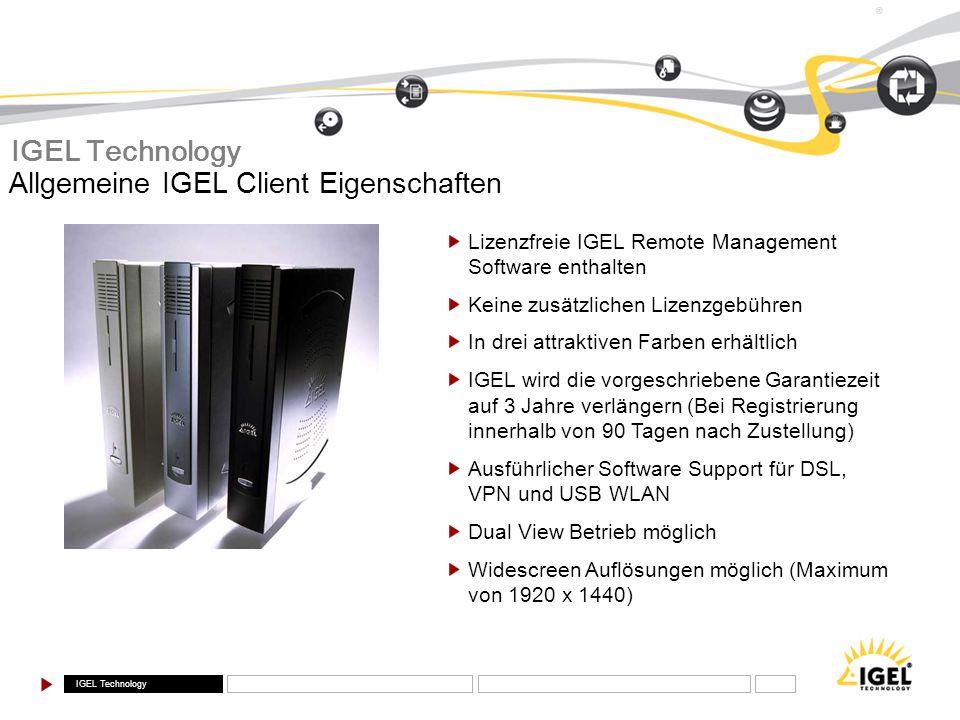 Allgemeine IGEL Client Eigenschaften