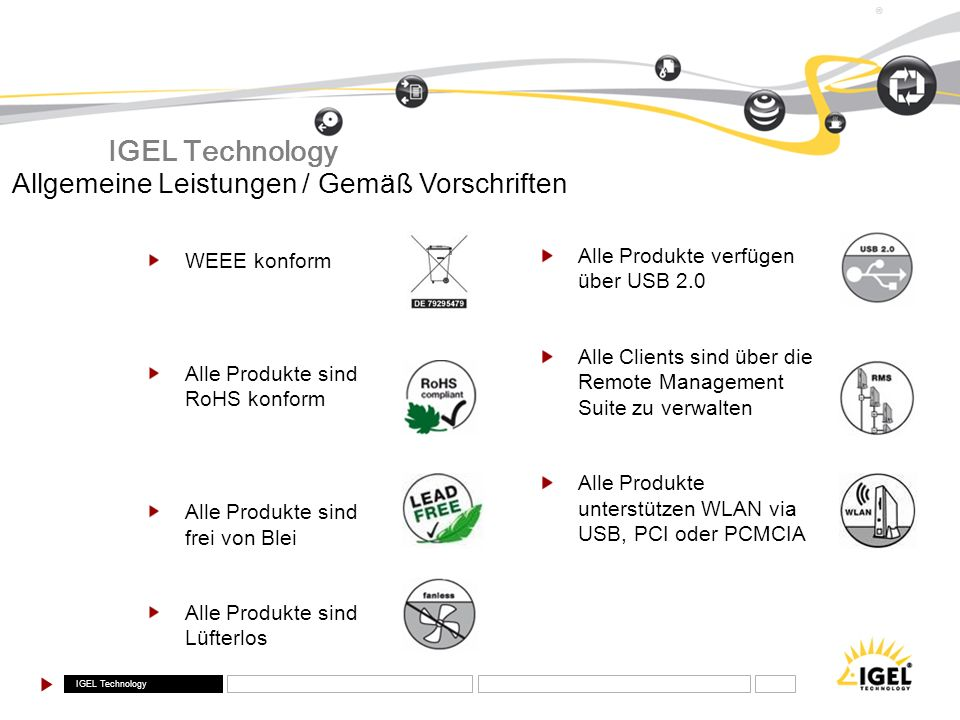 IGEL Technology Allgemeine Leistungen / Gemäß Vorschriften