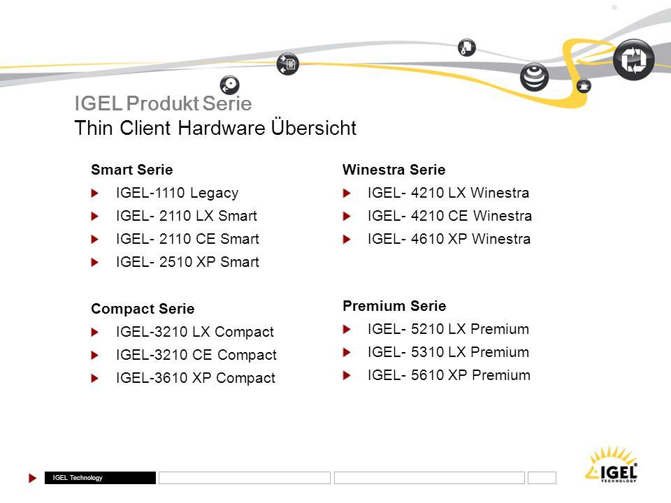IGEL Produkt Serie Thin Client Hardware Übersicht Smart Serie