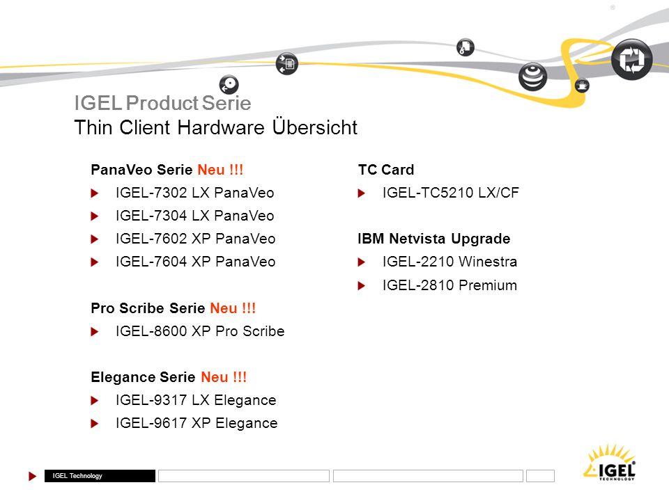 IGEL Product Serie Thin Client Hardware Übersicht