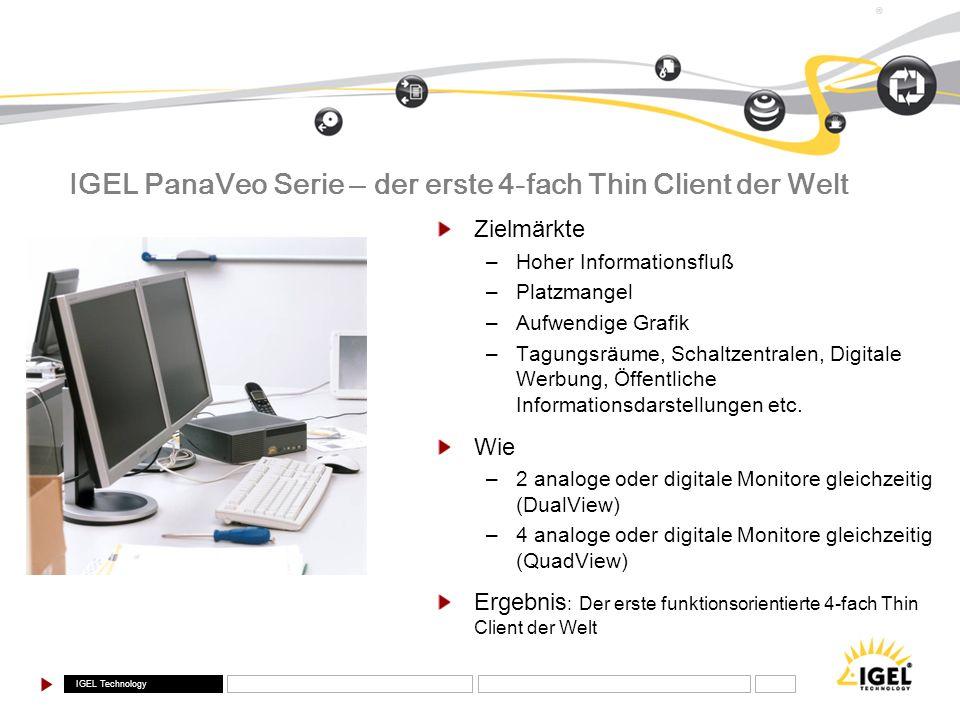 IGEL PanaVeo Serie – der erste 4-fach Thin Client der Welt