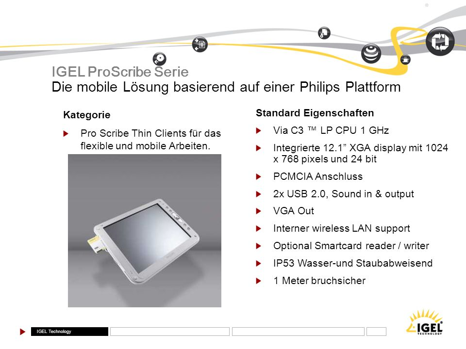 Die mobile Lösung basierend auf einer Philips Plattform