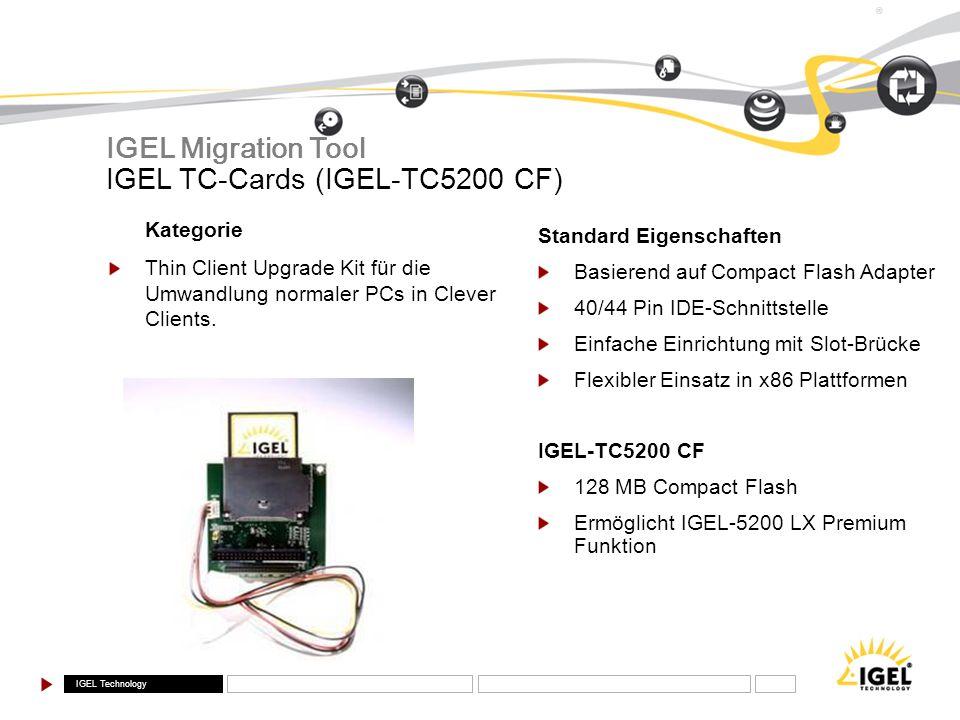 IGEL TC-Cards (IGEL-TC5200 CF)
