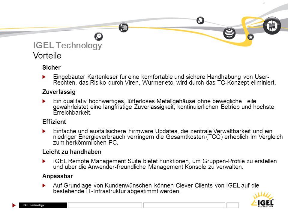 IGEL Technology Vorteile Sicher