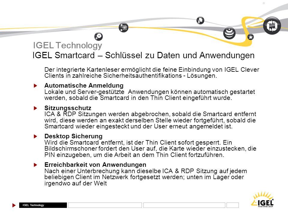 IGEL Smartcard – Schlüssel zu Daten und Anwendungen